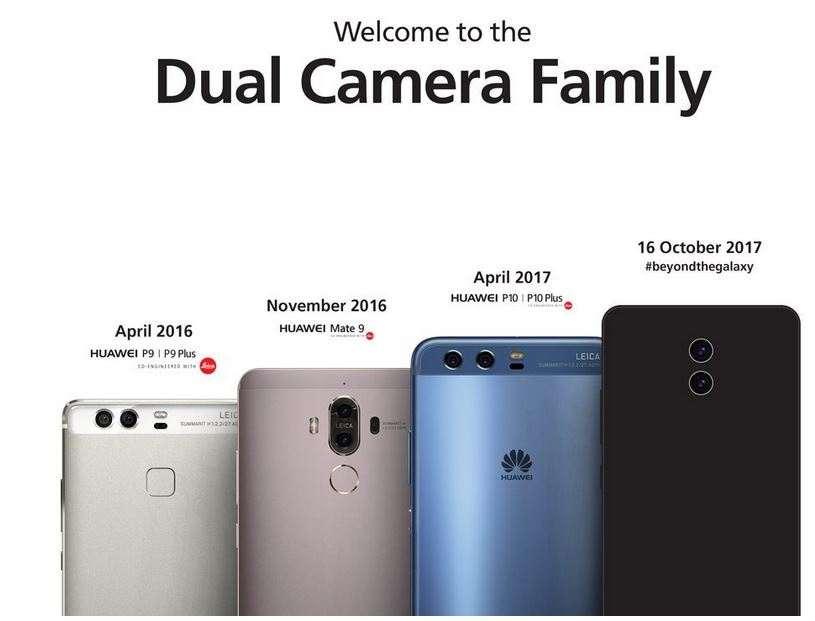Parte traseira do Huawei Mate 10
