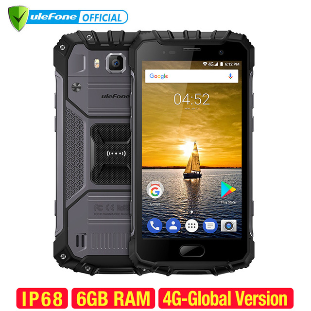 Ulefone Armor 2 IP68 Waterproof Mobile Phone Android 7.0 5.0 inch FHD MTK6757 Octa Core Global Version 6GB+64GB Smartphone
