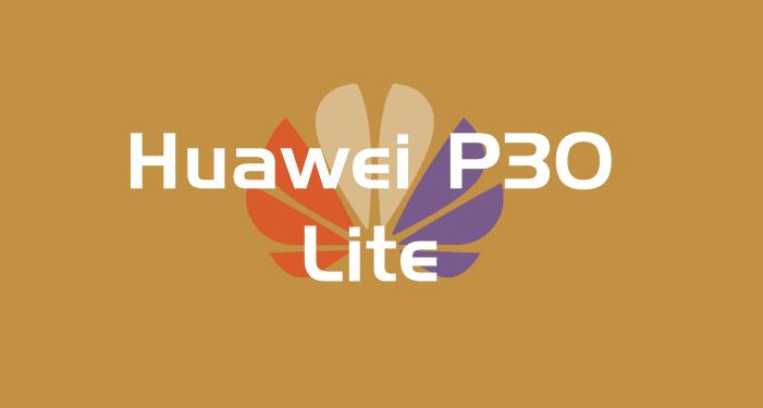 "Logo escrito ""Huawei P30 Lite"""
