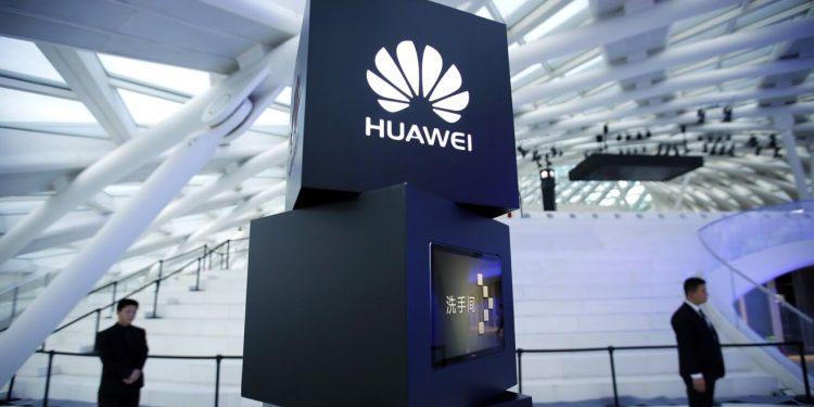 Foto do logo da Huawei