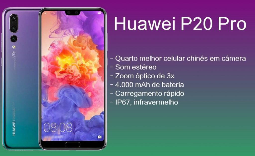 Ficha técnica do Huawei P20 Pro