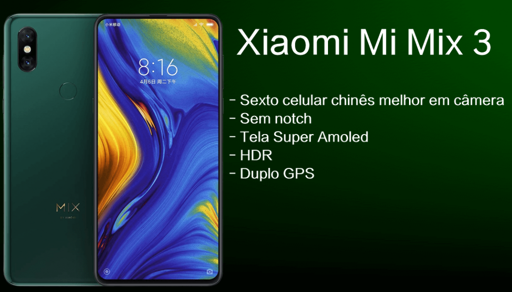 Ficha técnica do Xiaomi Mi Mix 3